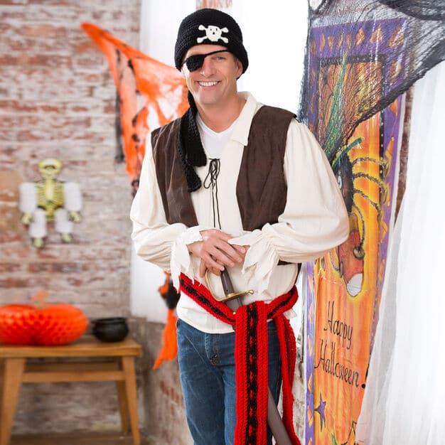 Halloween Pirate Costume Free Crochet Pattern
