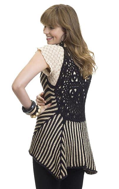 Two-Tone Vest | CrochetKim Free Crochet Pattern
