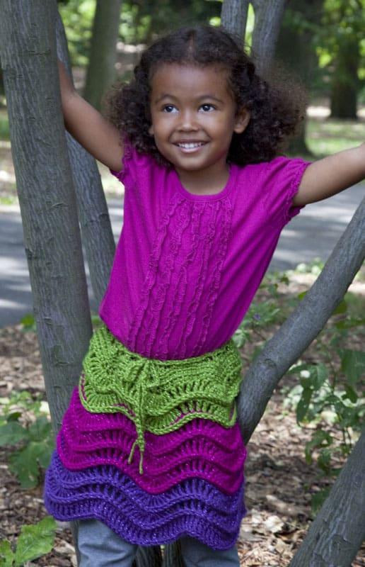 Girl's Salsa Party Skirt | CrochetKim Free Crochet Pattern
