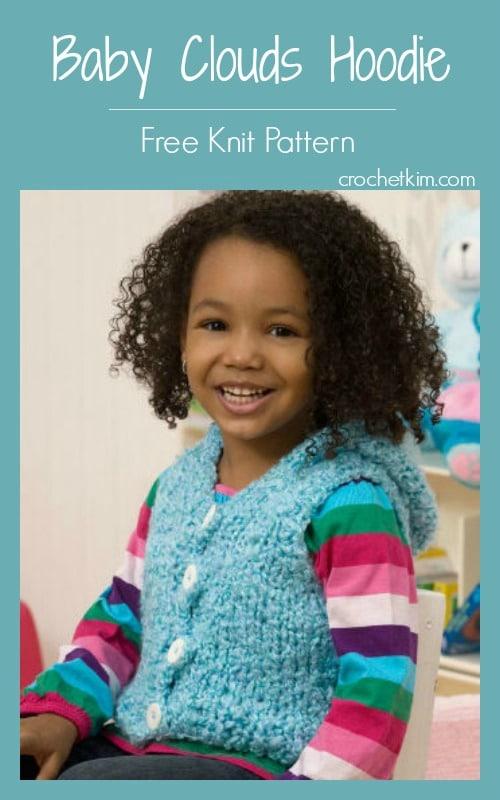 CrochetKim Free Knit Pattern: Baby Clouds Hoodie Vest @crochetkim