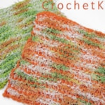 Citrus Scrubs Free Tunisian Crochet Pattern