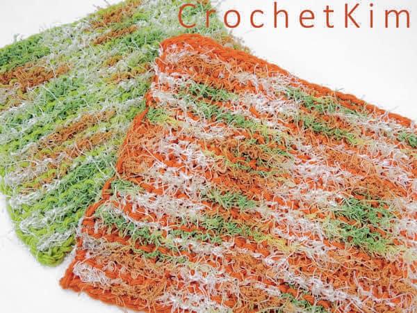 CrochetKim Free Crochet Pattern | Citrus Scrubs Washcloth Dishcloth @crochetkim