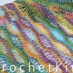 Italian Translation: Entwined Helix Scarf Free Tunisian Crochet Pattern