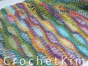 CrochetKim Free Crochet Pattern | Entwined Helix Scarf