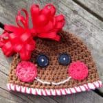 Free Crochet Pattern: Gingerbread Cookie Hat
