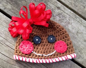 Free Crochet Pattern: Gingerbread Cookie Hat