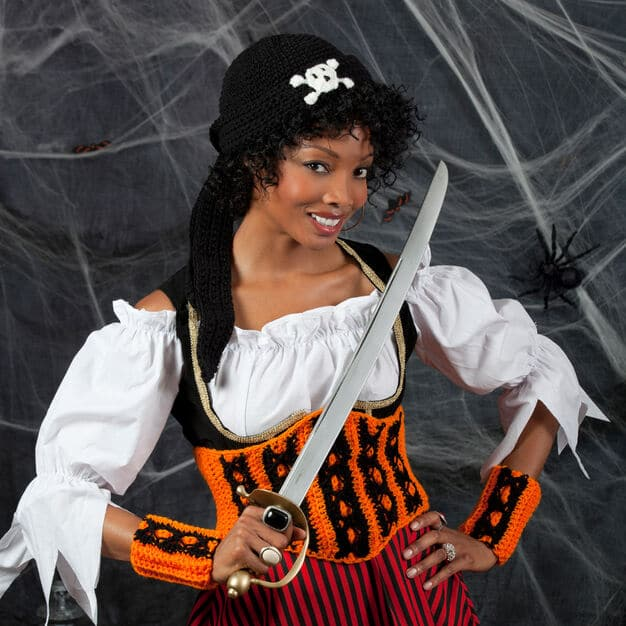Halloween Wench Corset Costume Free Crochet Pattern