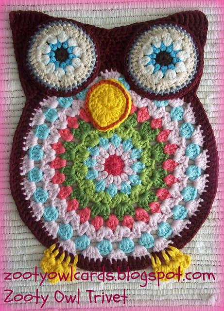 Free Crochet Pattern: Owl Trivet