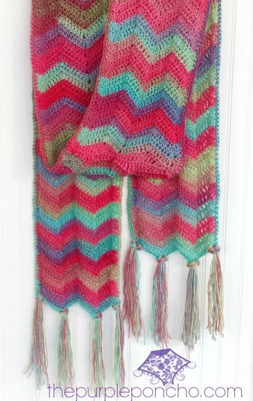 Chevron Super Scarf Free Crochet Pattern Crochetkim