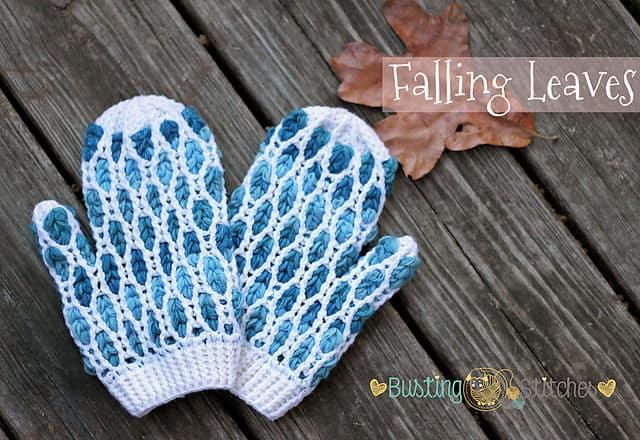 Free Crochet Pattern: Falling Leaves Mittens