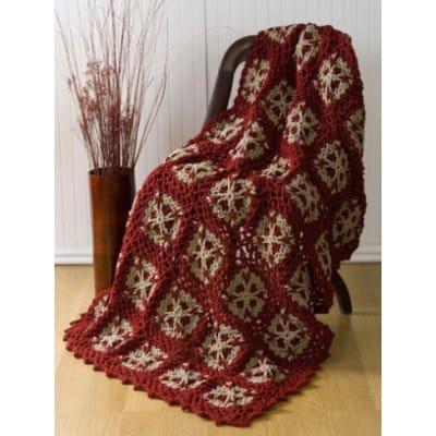 Flower Throw   CrochetKim Free Crochet Pattern