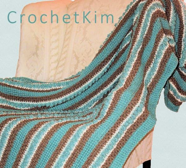 CrochetKim Free Crochet Pattern | La Playa Throw @crochetkim