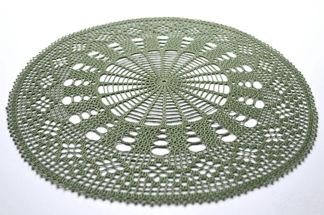 Free Crochet Pattern: Ordered Diamond Doily