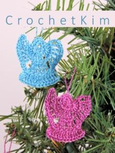CrochetKim Free Crochet Pattern | Mini Angel Ornament @crochetkim