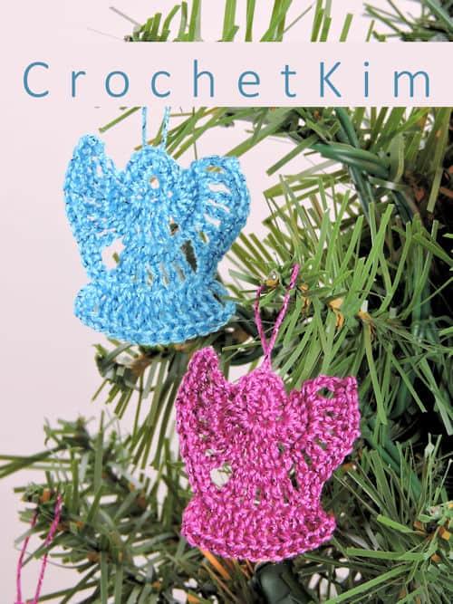 CrochetKim Free Crochet Pattern   Mini Angel Ornaments @crochetkim