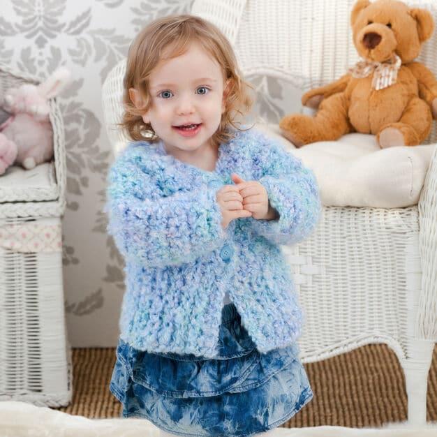 Swing Jacket for Baby Free Crochet Pattern