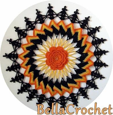 Free Crochet Pattern: Trick or Treat Doily
