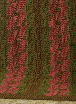 Bargello Throw | CrochetKim Free Crochet Pattern