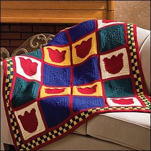 CrochetKim Free Crochet Pattern: Pennsylvania Dutch Throw @crochetkim