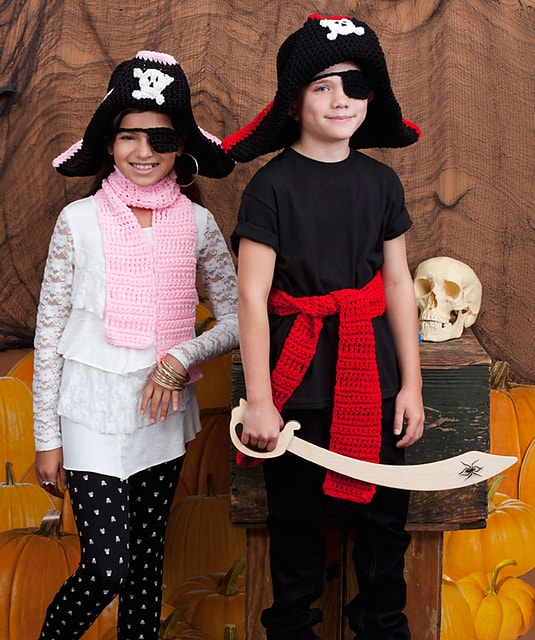 CrochetKim Free Crochet Pattern: Child's Pirate Costume @crochetkim