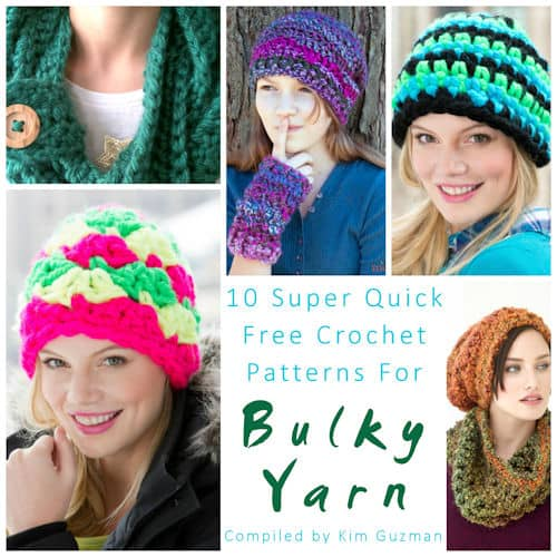 Link Blast: 10 Free Super Quick Projects in Bulky Yarns