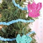 Mini Christmas Tree Garland Free Crochet Pattern