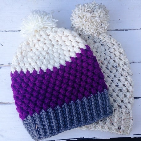 cb6f8ee4102 Puff Stitch Beanie Free Crochet Pattern