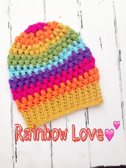 Free Crochet Pattern: Puff Stitch Beanie