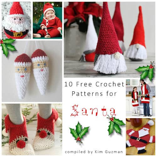 Link Blast 10 Free Crochet Patterns For Santa Crochetkim