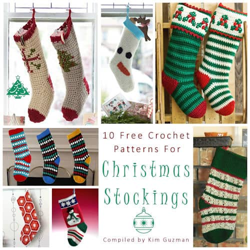 link blast 10 free crochet patterns for christmas stockings crochetkim