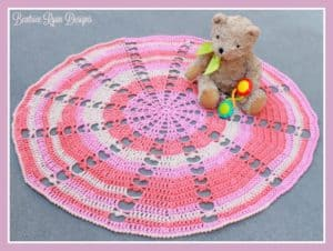 Free Crochet Pattern: Sugar Wheel Baby Blanket