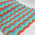 Wavy Hugs Baby Blanket CrochetKim Free Crochet Pattern
