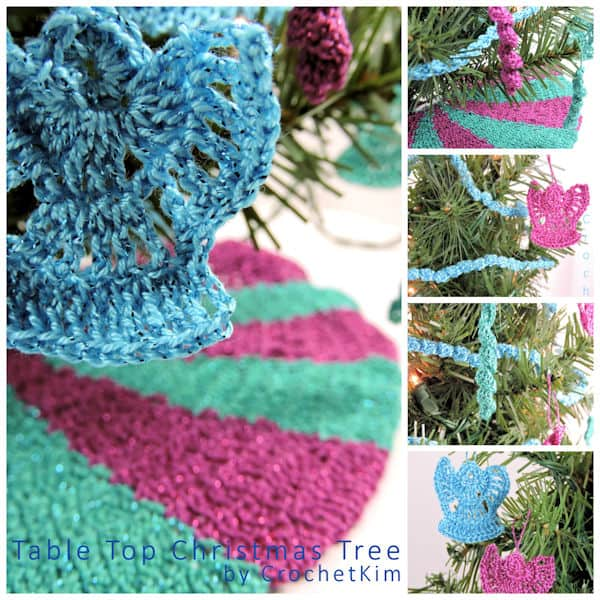 Table Top Christmas Tree Decorations at @crochetkim