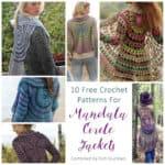 Link Blast: 10 Free Crochet Patterns for Mandala Circle Jackets