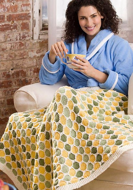 Free Knit Pattern: Honeycomb Throw