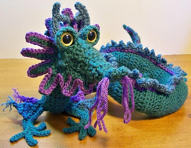 Free Crochet Pattern: Oriental Dragon
