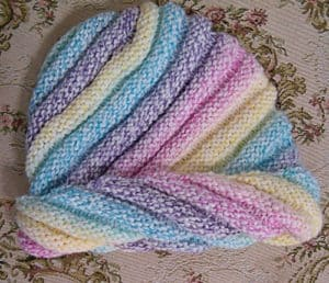 Free Knit Pattern: Plymouth Yarn Spiral Rainbow Hat