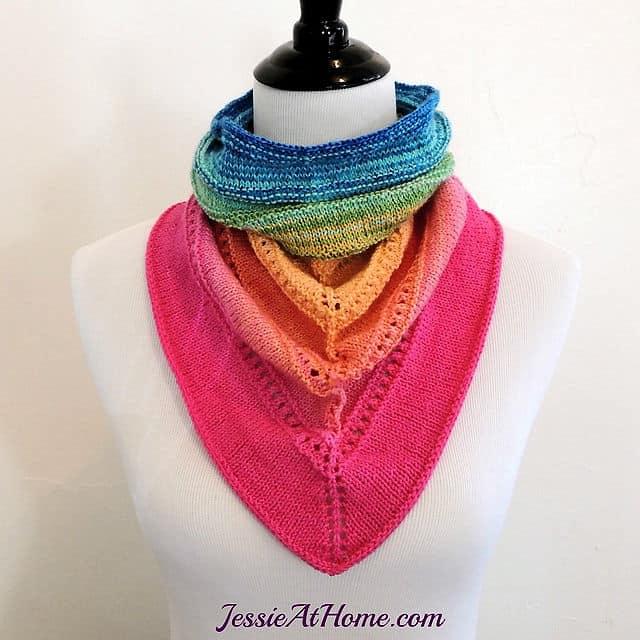 Free Knit Pattern Spring Cowgirl Bandana Cowl Crochetkim