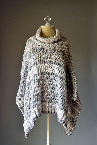 Free Knit Pattern: Stonefall Poncho - CrochetKim™