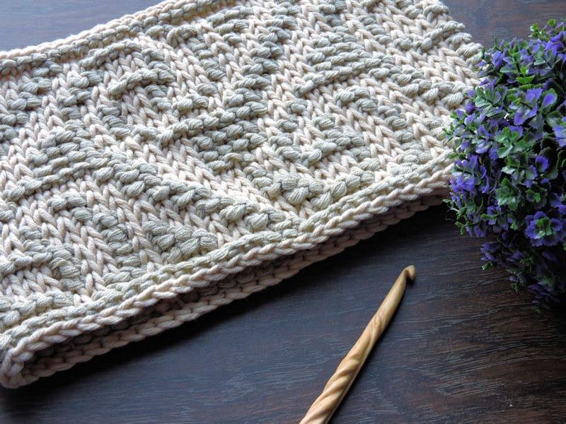 Casual Cowl | CrochetKim Free Tunisian Crochet Pattern