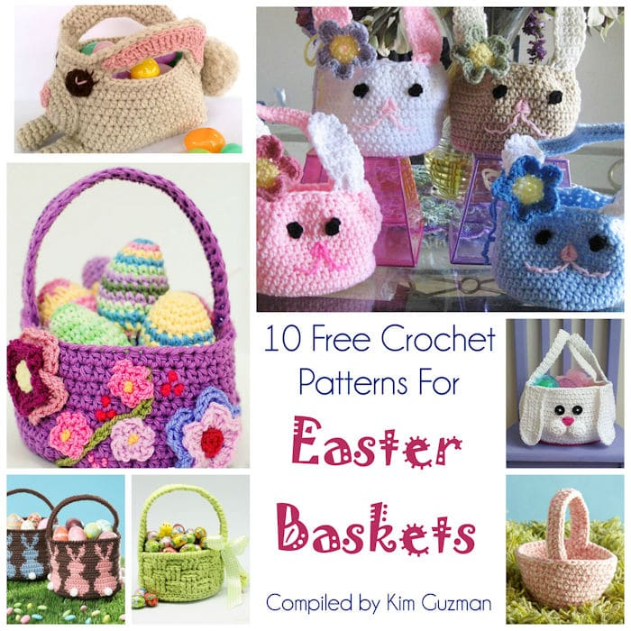 Link Blast: 10 Free Crochet Patterns for Easter Baskets