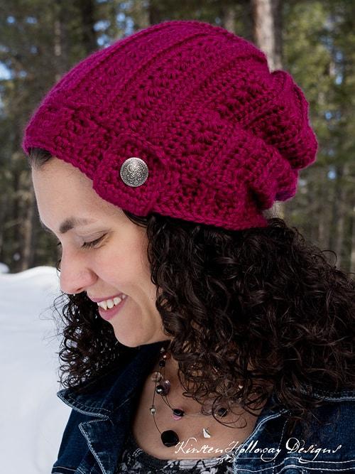 Free Crochet Pattern: Heartstrings Slouch