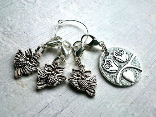 Make It Crochet: Owl Stitch Markers for weekly prize drawing entry