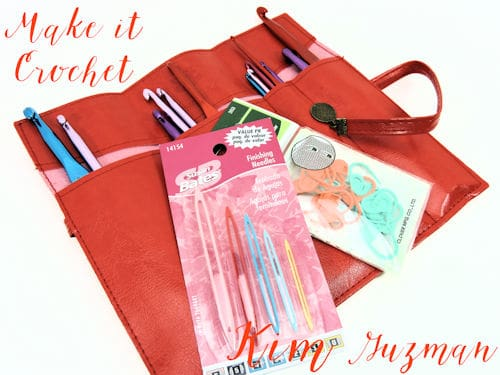 Make It Crochet: Faux Leather Crochet Hook Case for weekly prize drawing entry
