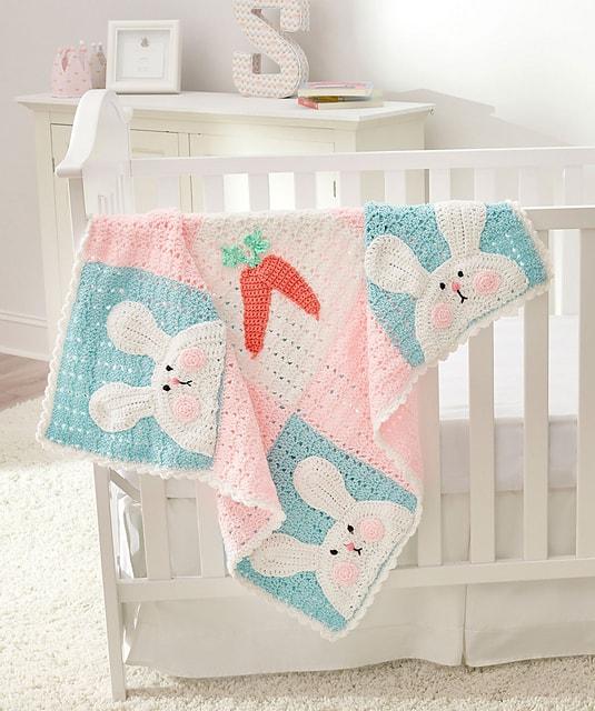 Free Crochet Pattern: Luv My Bunny Blanket