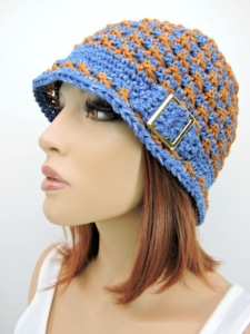 Speckled Cloche Hat | CrochetKim Free Crochet Pattern