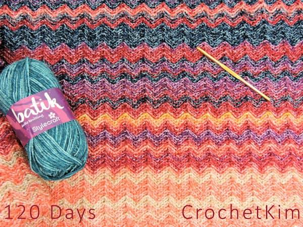 CrochetKim Temperature Blanket Partial Update