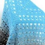 Lunar Crossings Shawl Free Crochet Pattern