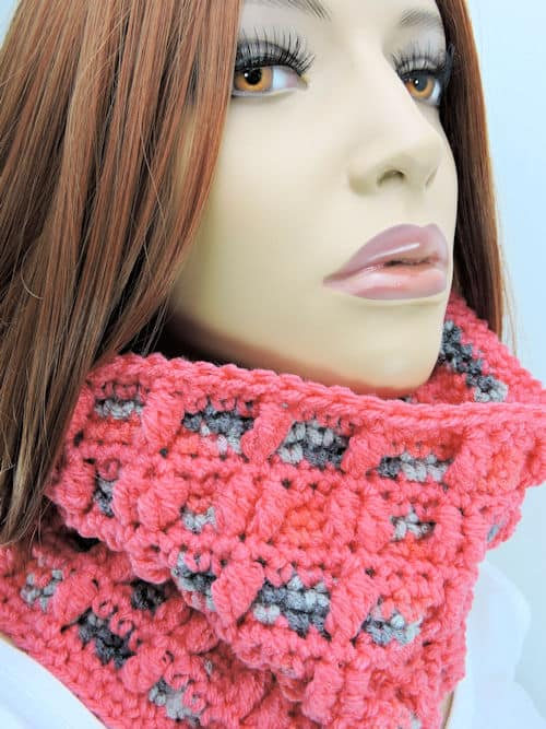 CrochetKim Free Crochet Pattern | Bundle of Bobbles Cowl @crochetkim