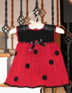 Free Crochet Pattern: Ladybug Baby Dress
